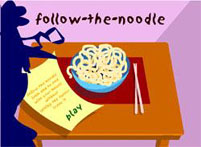 Mrs Radvelli Follow the Noodle Game